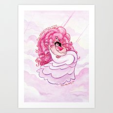Steven Universe and Rose Quartz: That's Me Loving You Art Print