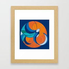 One with the sun Framed Art Print