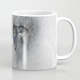 Silver Clay Horse in the Snow Coffee Mug
