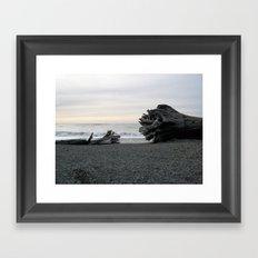 Logs on La Push Beach Framed Art Print