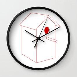Home Sweet Birdhouse Wall Clock