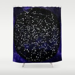 Celestial Map - Northern Hemisphere  Shower Curtain