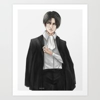 levi Art Prints featuring Levi by sing-sei