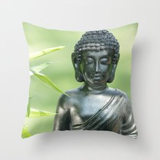 Find Buddha calm Throw Pillow