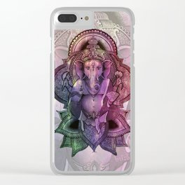 Ganesha Color - white Clear iPhone Case