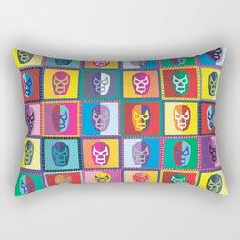 mascaras de luchadores II Rectangular Pillow