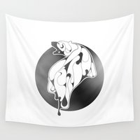 polar bear Wall Tapestries featuring Polar Bear by KUI29