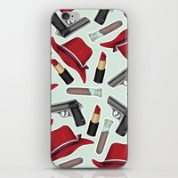 peggy carter iPhone & iPod Skins featuring Peggy Carter Pattern by HayPaige