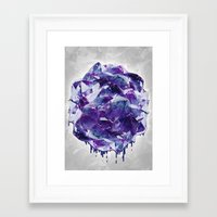 mineral Framed Art Prints featuring Mineral by Lindella
