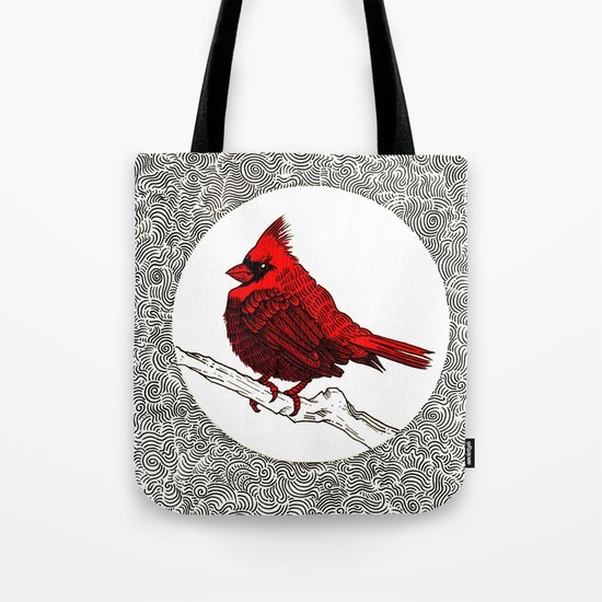 A Red Cardinal Tote Bag