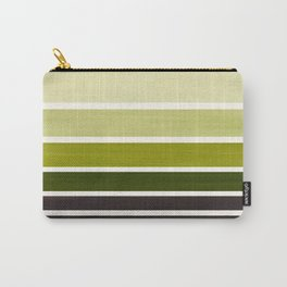 Olive Green Minimalist Watercolor Mid Century Staggered Stripes Rothko Color Block Geometric Art Carry-All Pouch