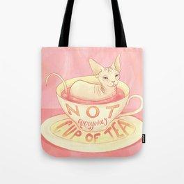 Not everyone's cup of tea - Sphynx Cat Tote Bag