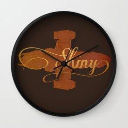 Shiny!  Wall Clock