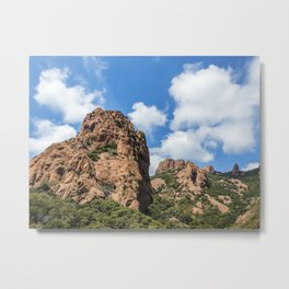 Seacoast of the Esterel Natural Park in French Riviera Metal Print