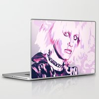 blade runner Laptop & iPad Skins featuring PRIS // BLADE RUNNER by mergedvisible