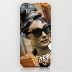 Audrey Hepburn - Ripped Paper Style - Slim Case iPhone 6s