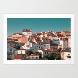 a bunch of houses in portugal coimbra Art Print