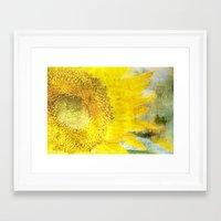 sunflower Framed Art Prints featuring Sunflower by Maria Heyens