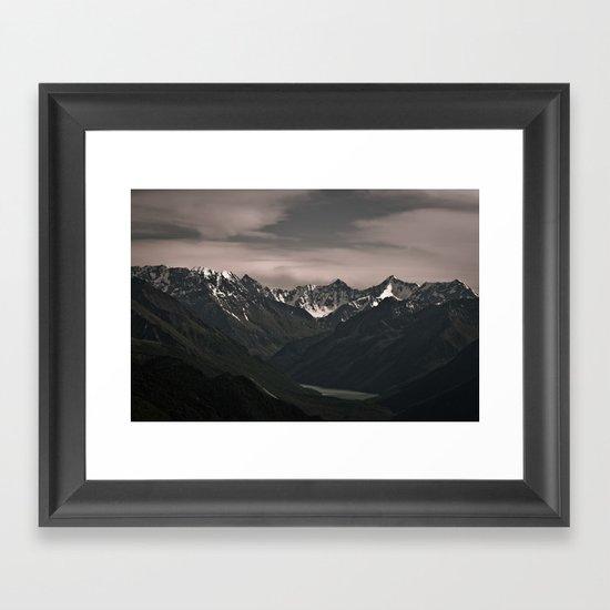 where the river begins Framed Art Print