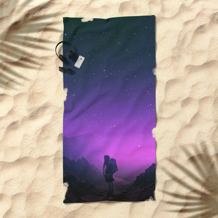 Not all those who wander are lost Beach Towel