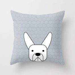 Pitbul bunny ears Throw Pillow