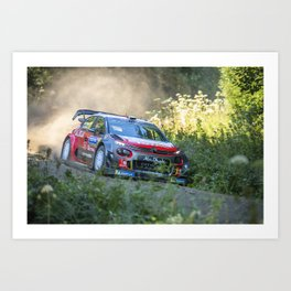 Rally car - Speed in nature Art Print