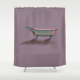 Bathtub Vintage Retro Art Deco// Shower Curtain Shower Curtain