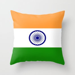 Flag of India-indian,mumbai,delhi,hindi,indus,buddhism,hinduism,buddha,gandhi Throw Pillow