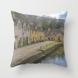 Castle Combe. Throw Pillow