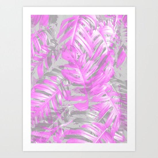 silver and musk, foliage Art Print