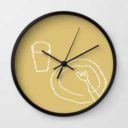 GLASS AND PLATE Wall Clock