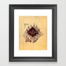 Marauder's map  Framed Art Print