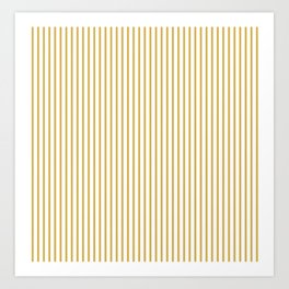Spicy Mustard Stripes Art Print