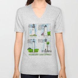 Mississippi Lighthouses Unisex V-Neck