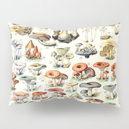 Adolphe Millot - Champignons B - French vintage poster Pillow Sham