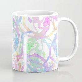 Colorful Watercolor Brushstroke Abstract Circles Coffee Mug