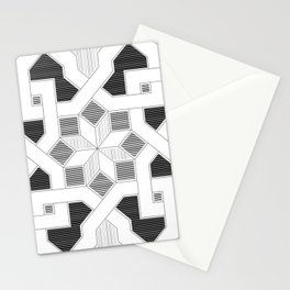 Oriental Pattern - Geometric Design - lines Stationery Cards