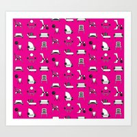 memphis Art Prints featuring Memphis by Yuki Chen
