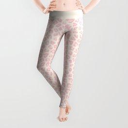 Modern ivory blush pink girly cheetah animal print pattern Leggings