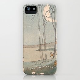 Rabbit in the forest iPhone Case