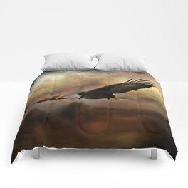 Eagle Flying Free Comforters