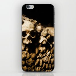 Skull walls in the catacombs iPhone Skin