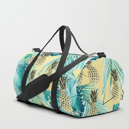 Tropical Pineapple Jungle Geo #1 #tropical #summer #decor #art #society6 Duffle Bag