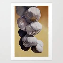 Garlic Still Life Art Print