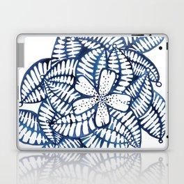 Indigo Frangipani Laptop & iPad Skin
