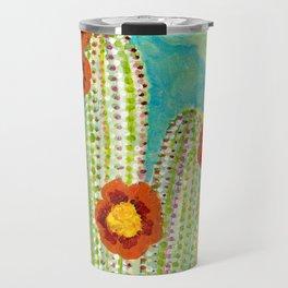 Cactus - Mixed Media Travel Mug