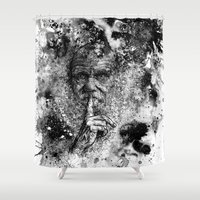darwin Shower Curtains featuring Darwin by Psyca
