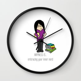 HAPPINESS IS... embracing your inner nerd Wall Clock