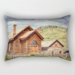 Old West Town Rectangular Pillow