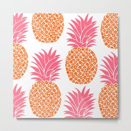 Pattern of Pineapple Metal Print